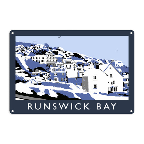 Runswick Bay, Yorkshire Metal Sign