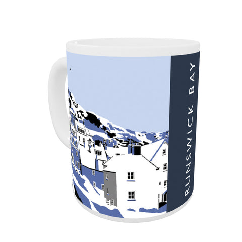 Runswick Bay, Yorkshire Coloured Insert Mug