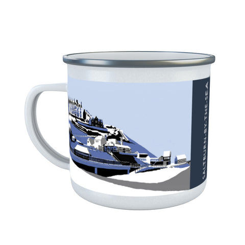 Saltburn-By-The-Sea, Yorkshire Enamel Mug