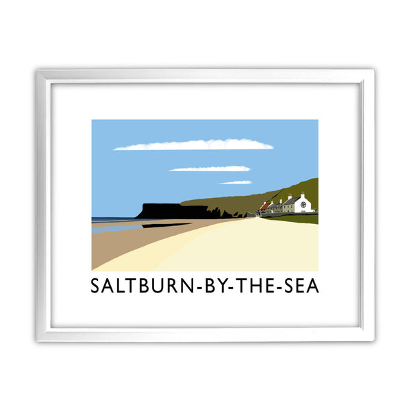 Saltburn-By-The-Sea, Yorkshire 11x14 Framed Print (White)