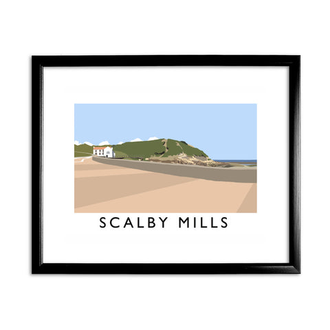 Scalby Mills, Yorkshire 11x14 Framed Print (Black)