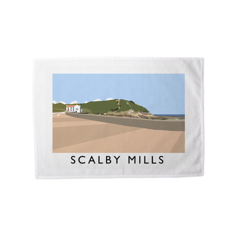Scalby Mills, Yorkshire Tea Towel