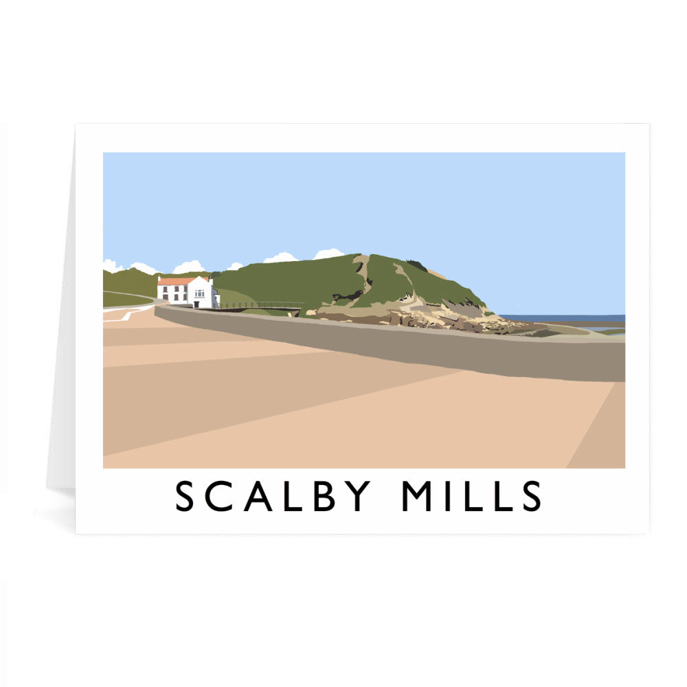 Scalby Mills, Yorkshire Greeting Card 7x5