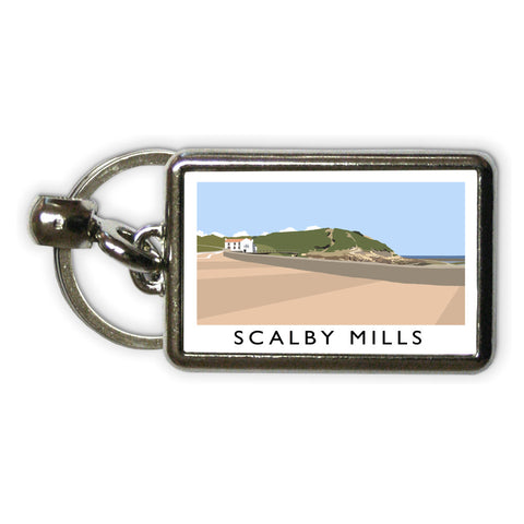 Scalby Mills, Yorkshire Metal Keyring