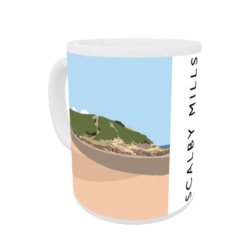 Scalby Mills, Yorkshire Coloured Insert Mug