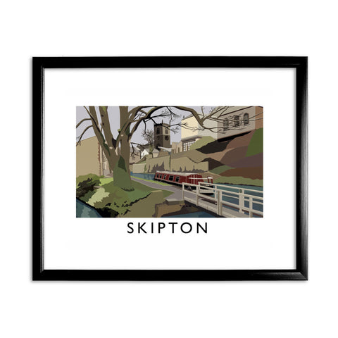 Skipton, Yorkshire 11x14 Framed Print (Black)