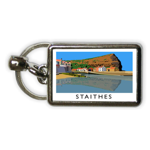 Staithes, Yorkshire Metal Keyring