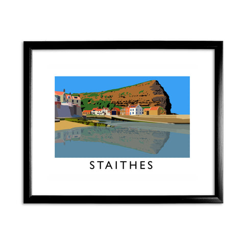 Staithes, Yorkshire 11x14 Framed Print (Black)