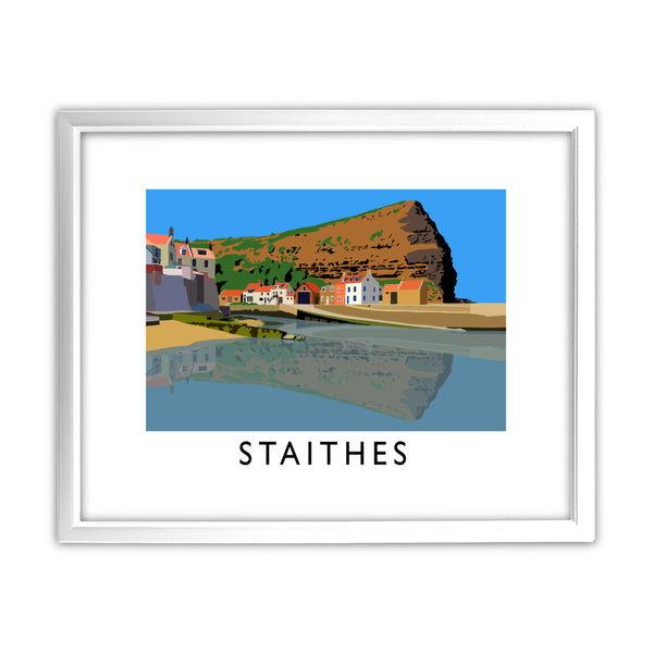 Staithes, Yorkshire 11x14 Framed Print (White)