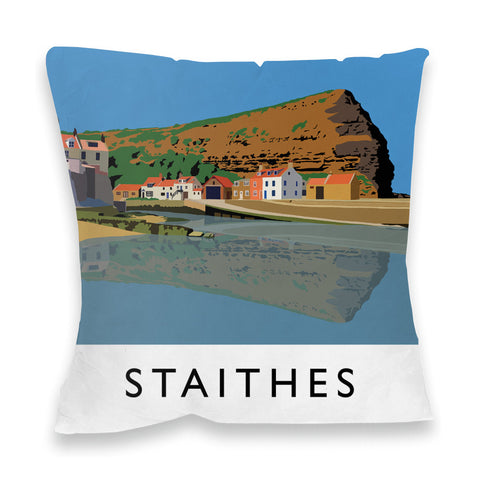 Staithes, Yorkshire Fibre Filled Cushion