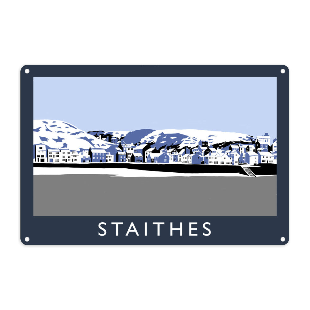 Staithes, Yorkshire Metal Sign