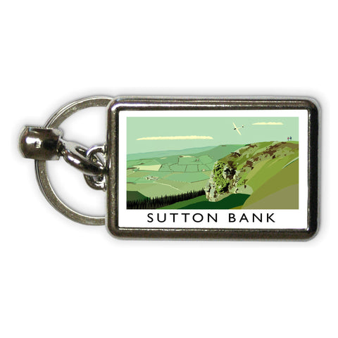 Sutton Bank, Yorkshire Metal Keyring