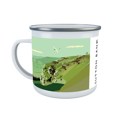 Sutton Bank, Yorkshire Enamel Mug