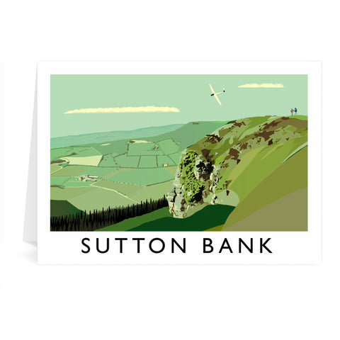 Sutton Bank, Yorkshire Greeting Card 7x5