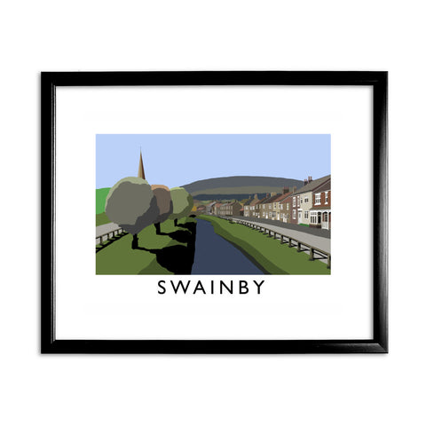 Swainby, Yorkshire 11x14 Framed Print (Black)