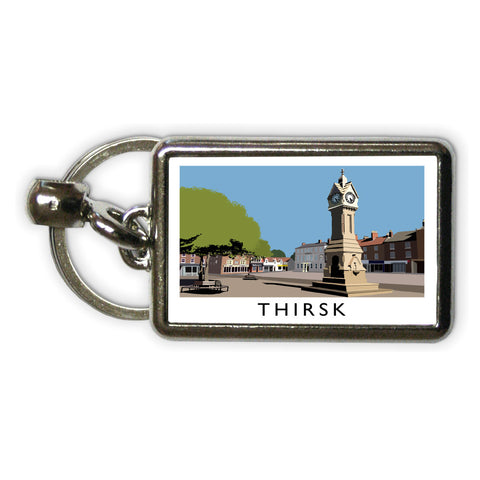 Thirsk, Yorkshire Metal Keyring