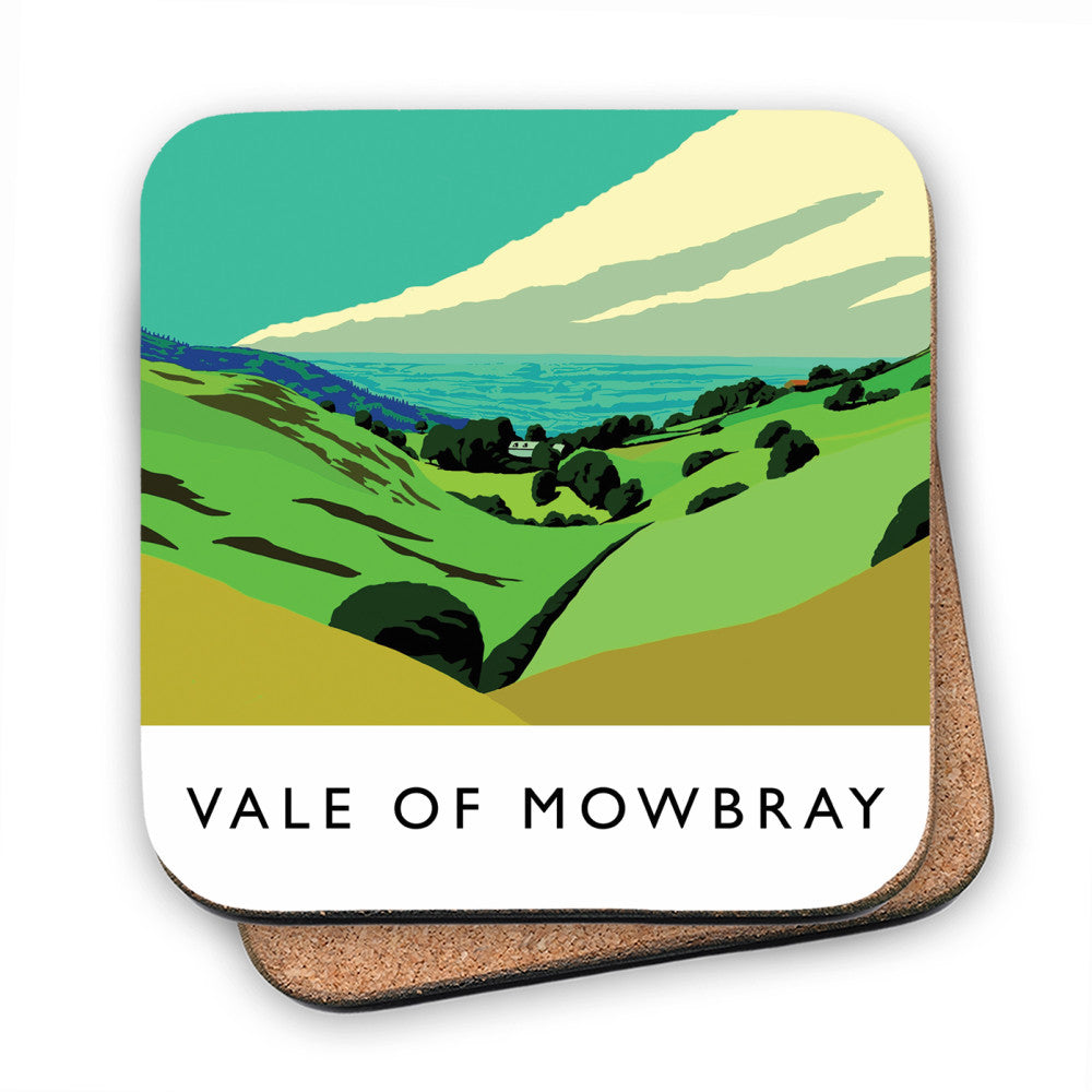Vale of Mowbray, Yorkshire MDF Coaster