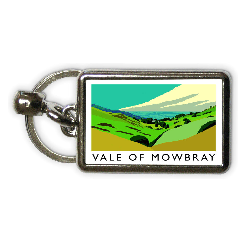 Vale of Mowbray, Yorkshire Metal Keyring