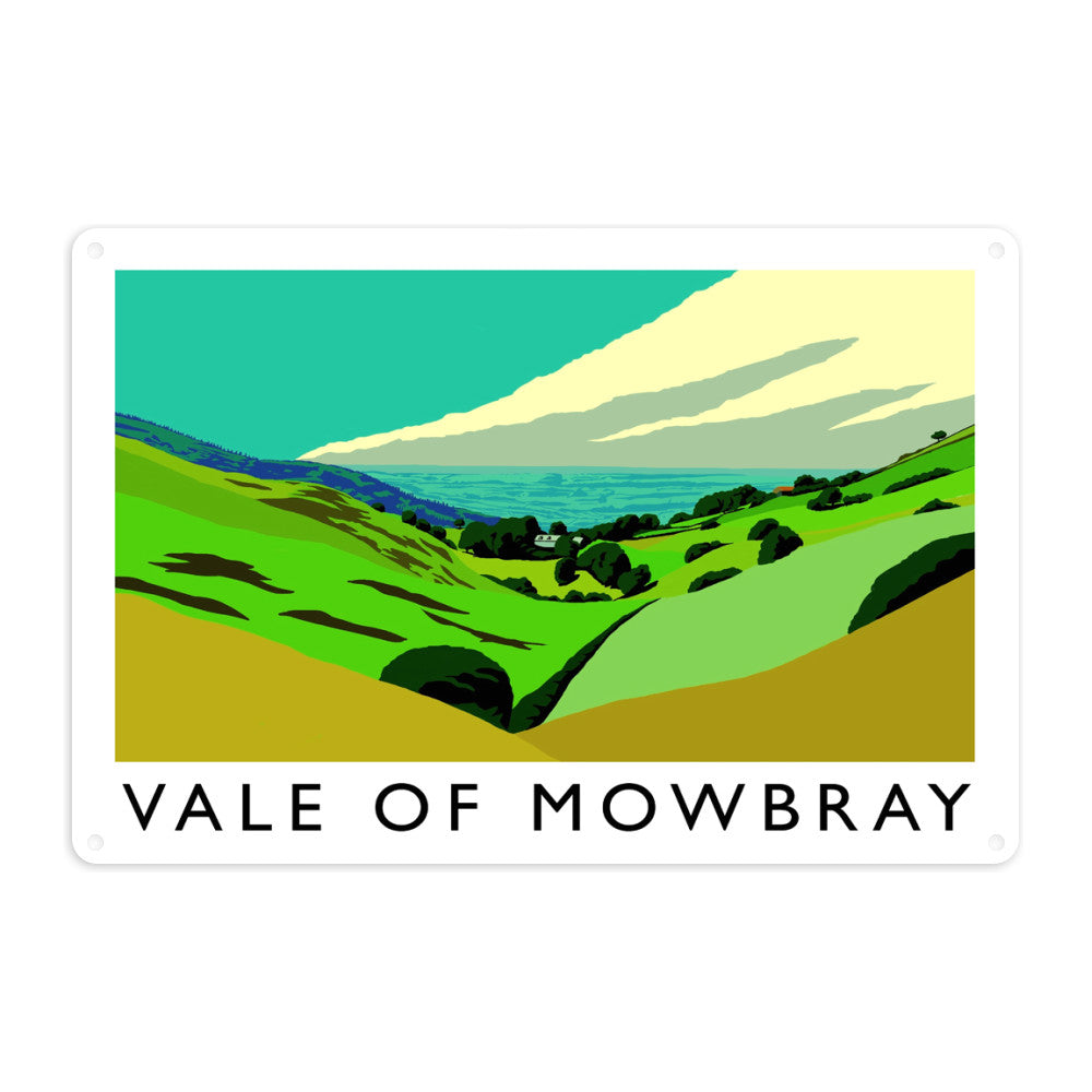 Vale of Mowbray, Yorkshire Metal Sign