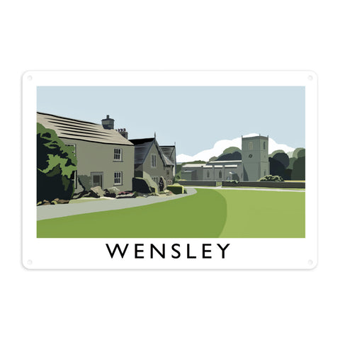 Wensley, Yorkshire Metal Sign