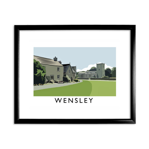 Wensley, Yorkshire 11x14 Framed Print (Black)