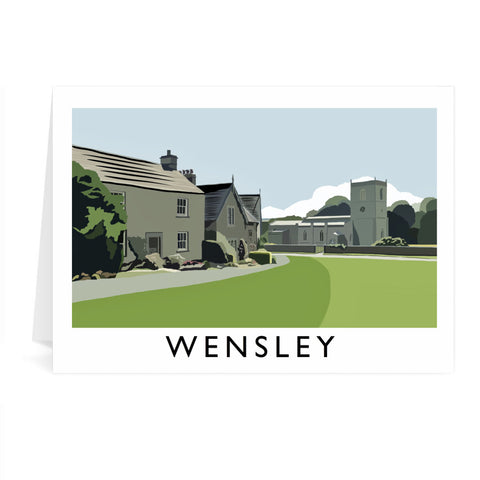 Wensley, Yorkshire Greeting Card 7x5