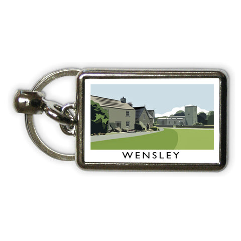 Wensley, Yorkshire Metal Keyring