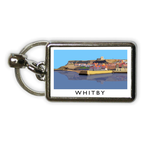 Whitby, Yorkshire Metal Keyring