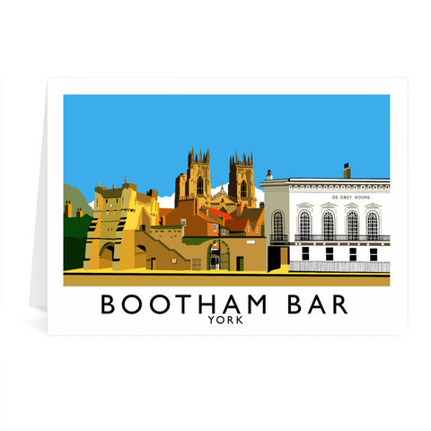 Bootham Bar, York Greeting Card 7x5