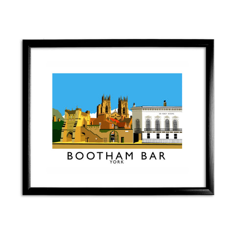 Bootham Bar, York 11x14 Framed Print (Black)