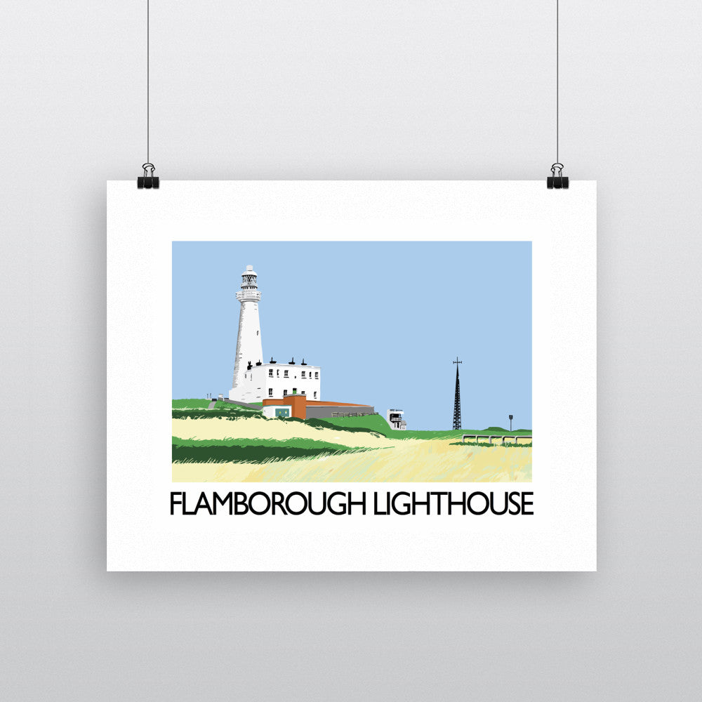 Flamborough Lighthouse, Yorkshire Fine Art Print