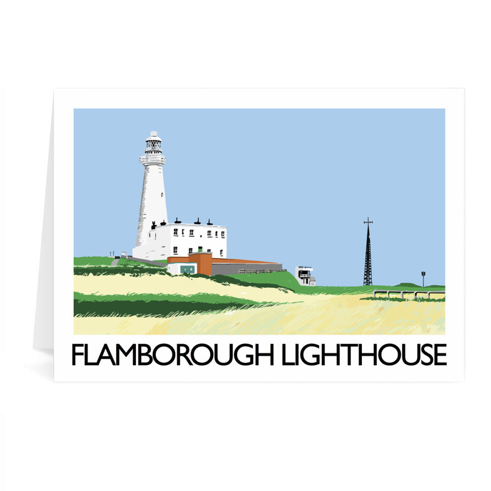 Flamborough Lighthouse, Yorkshire Greeting Card 7x5