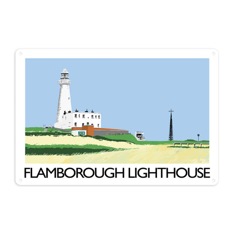 Flamborough Lighthouse, Yorkshire Metal Sign