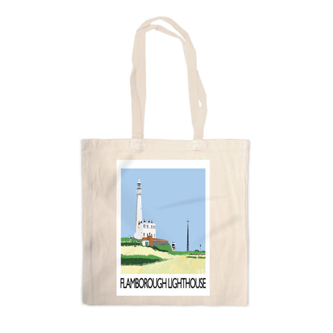 Flamborough Lighthouse, Yorkshire Canvas Tote Bag