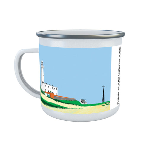 Flamborough Lighthouse, Yorkshire Enamel Mug