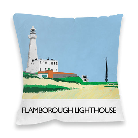 Flamborough Lighthouse, Yorkshire Fibre Filled Cushion