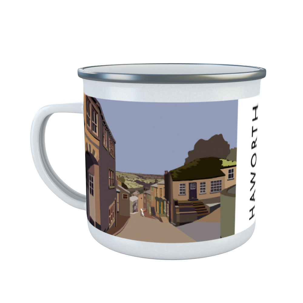Haworth, Yorkshire Enamel Mug