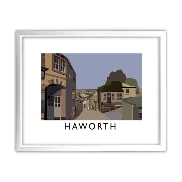 Haworth, Yorkshire 11x14 Framed Print (White)