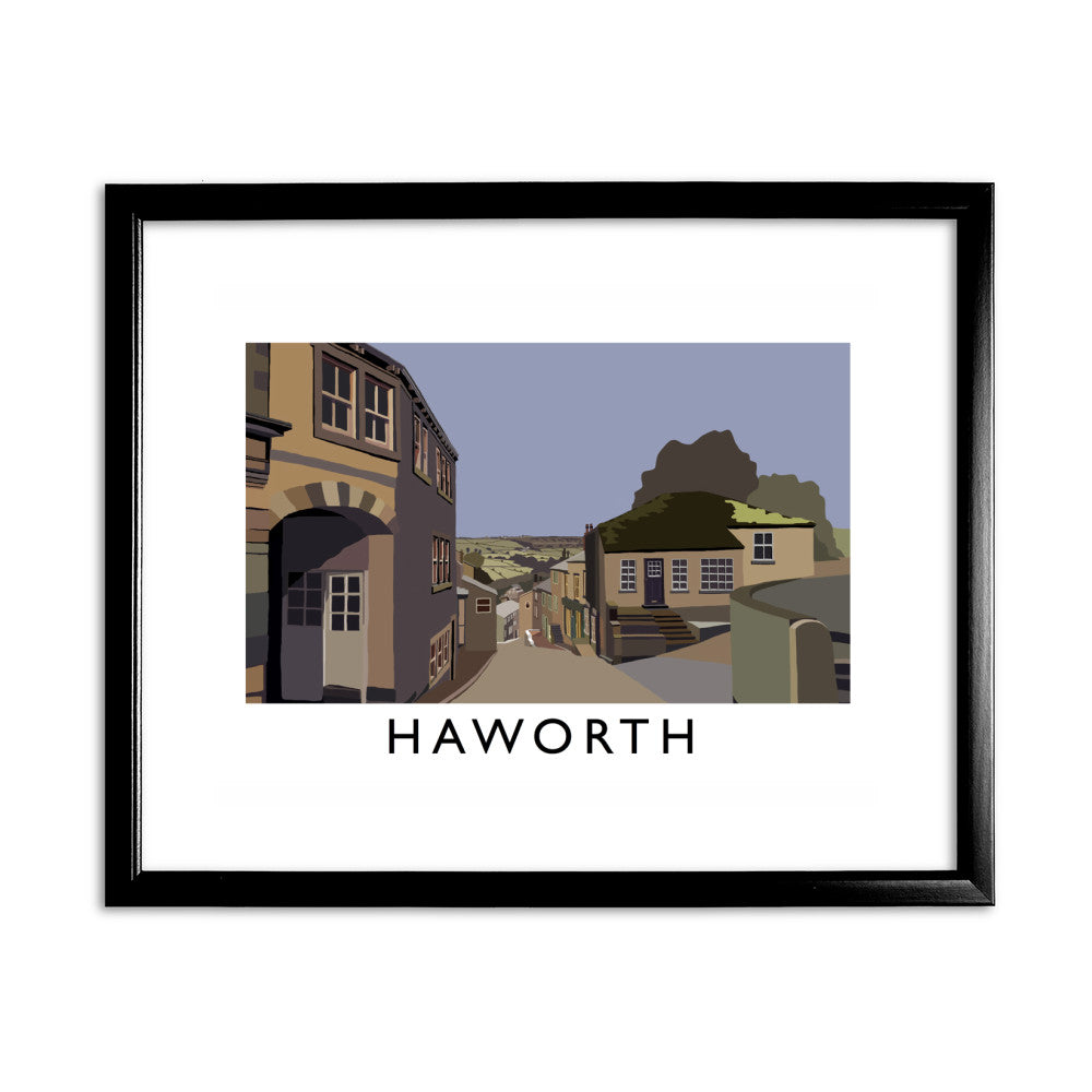 Haworth, Yorkshire 11x14 Framed Print (Black)