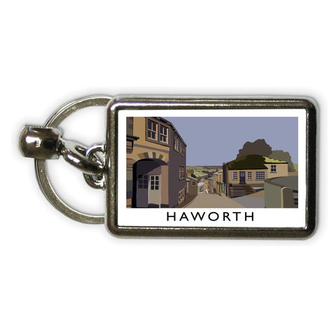 Haworth, Yorkshire Metal Keyring
