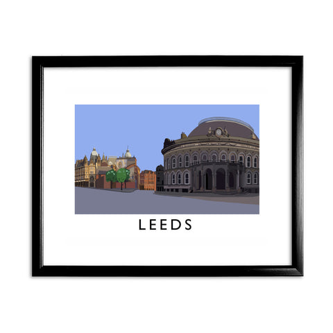 Leeds, Yorkshire 11x14 Framed Print (Black)