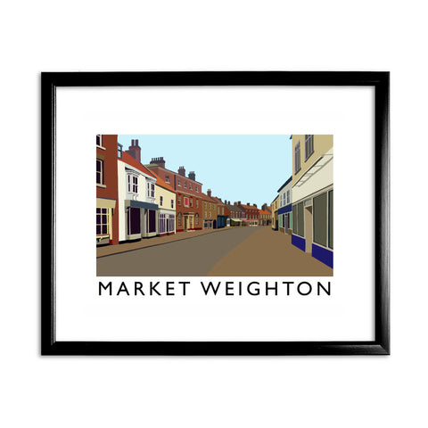 Market Weighton, Yorkshire 11x14 Framed Print (Black)