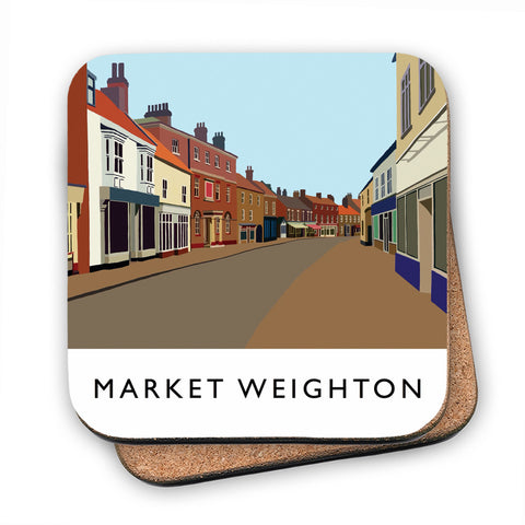Market Weighton, Yorkshire MDF Coaster