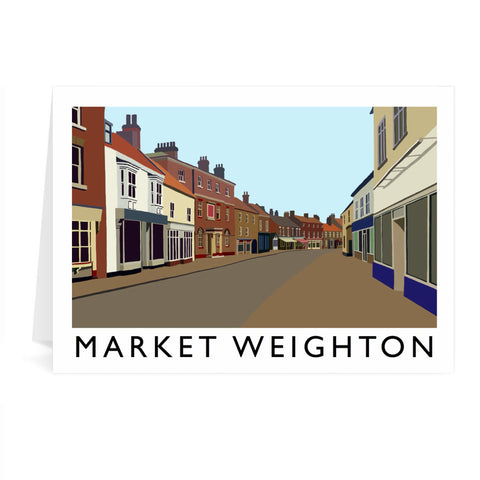 Market Weighton, Yorkshire Greeting Card 7x5