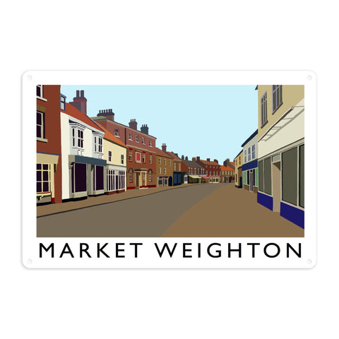 Market Weighton, Yorkshire Metal Sign