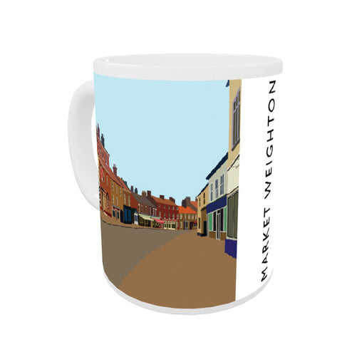 Market Weighton, Yorkshire Coloured Insert Mug