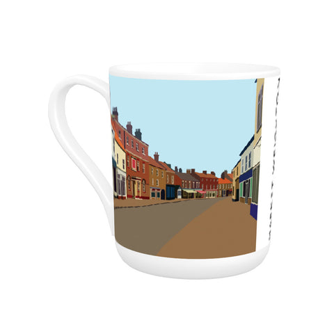Market Weighton, Yorkshire Bone China Mug