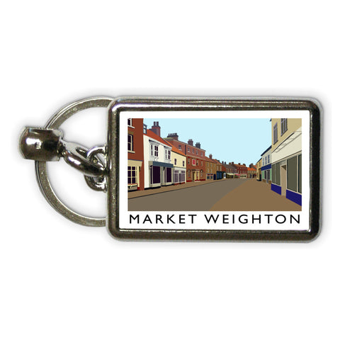Market Weighton, Yorkshire Metal Keyring