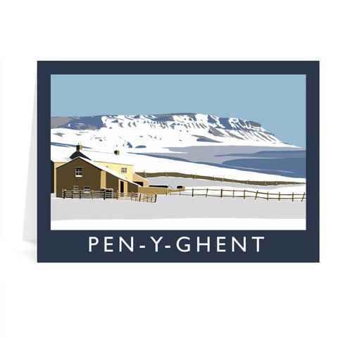 Pen-Y-Ghent, Yorkshire Greeting Card 7x5