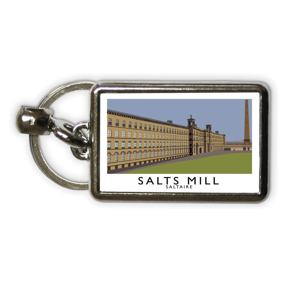 Salts Mill, Saltaire, Yorkshire Metal Keyring